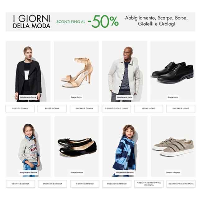 Amazon per i giorni della moda sconti fino al 50 for Amazon offerte abbigliamento